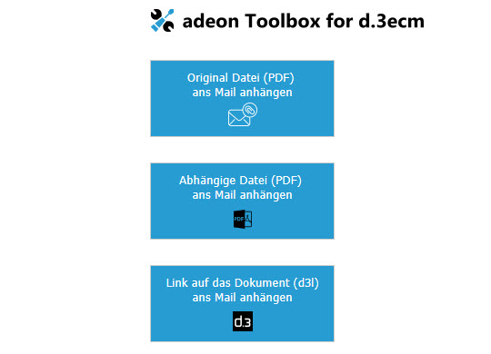 adeon Toolbox für d.3ecm